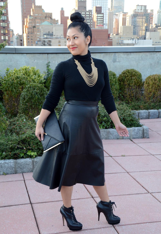 H&M Imitation Leather Skirt