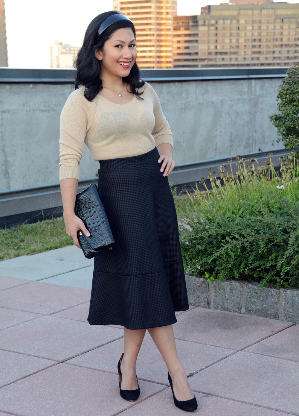 H&M textured skirt
