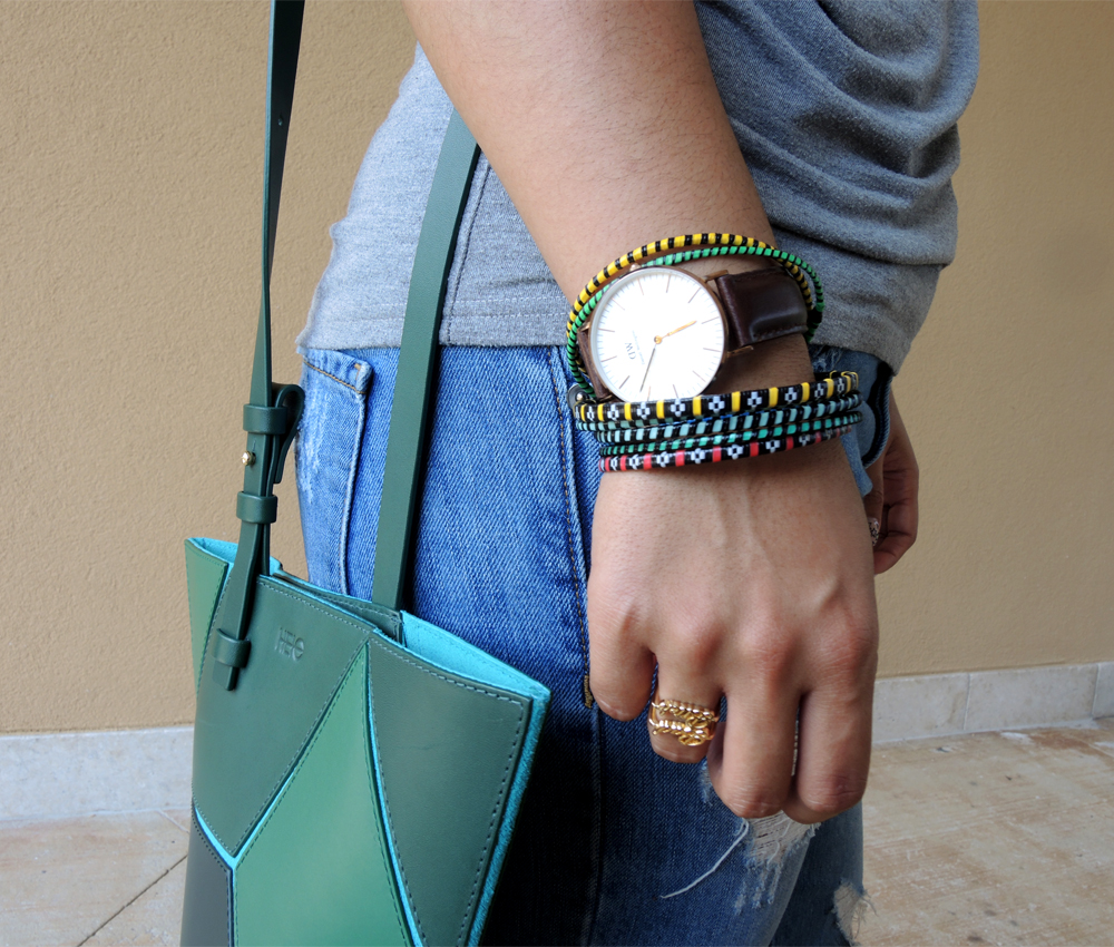 Doublehighfive Bk Recycled Plastic Bag Bracelet