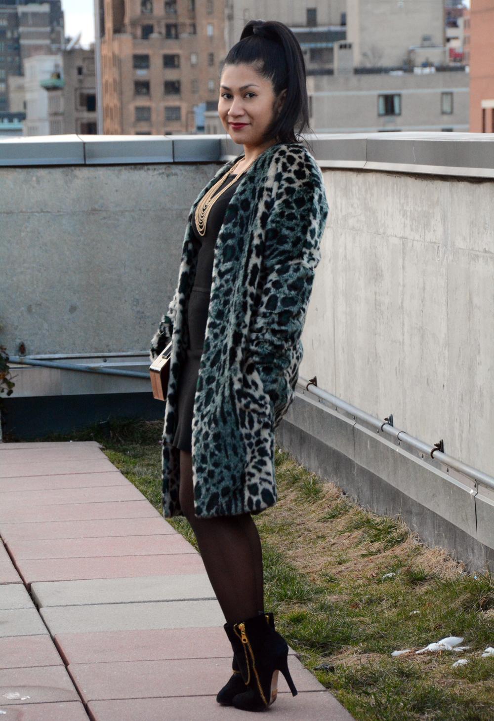 Maison Scotch Faux Fur Coat