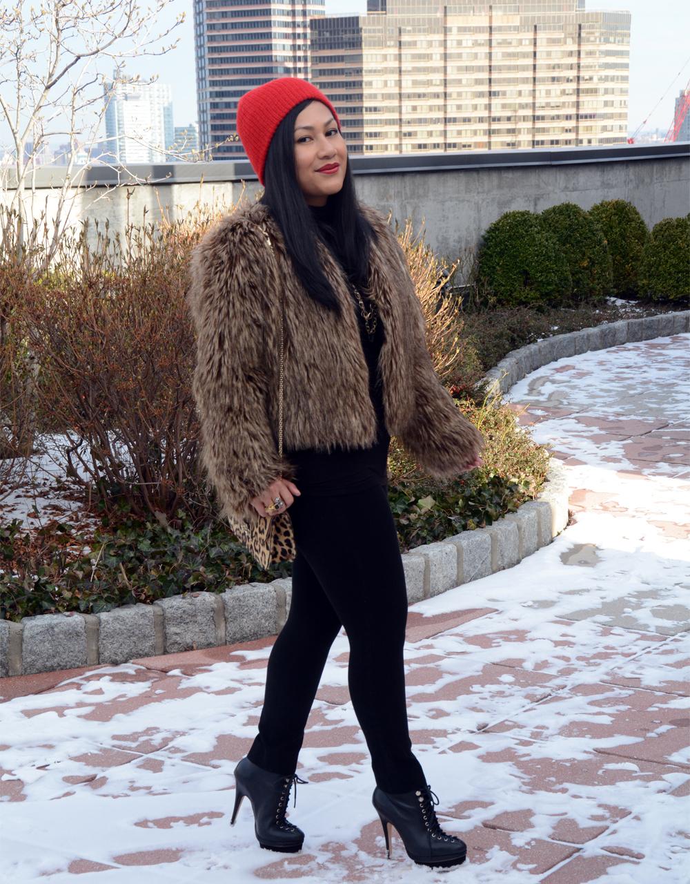 BSable Lauren Faux Fur Coat