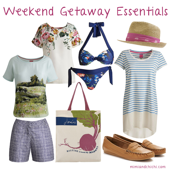 Weekend Getaway Essentials from Joules