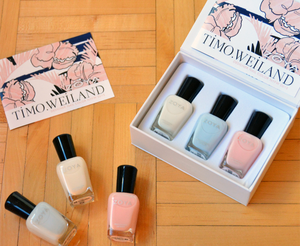 Zoya Nail Polish Set for Timo Weiland S/S 2015 Collection