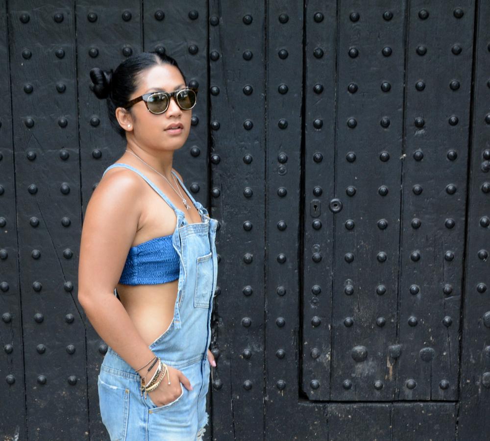 Nu New York Zipper front denim overalls
