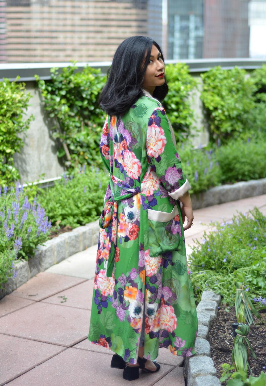 Zara long floral print kimono