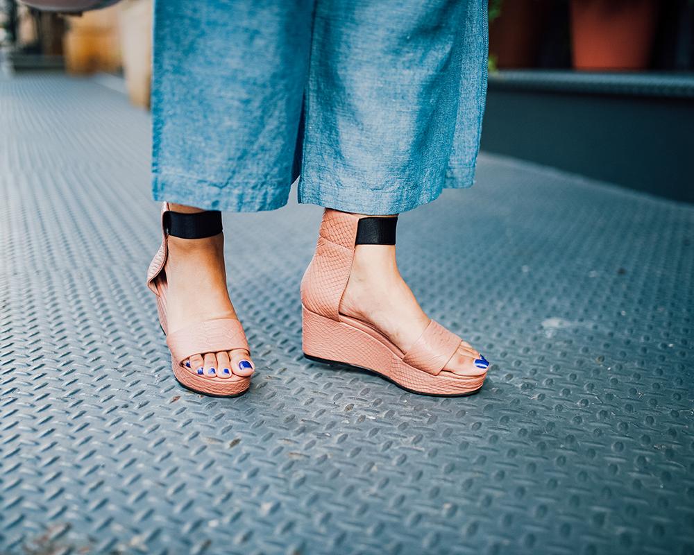 Seven All Around dusty pink platform sandals
