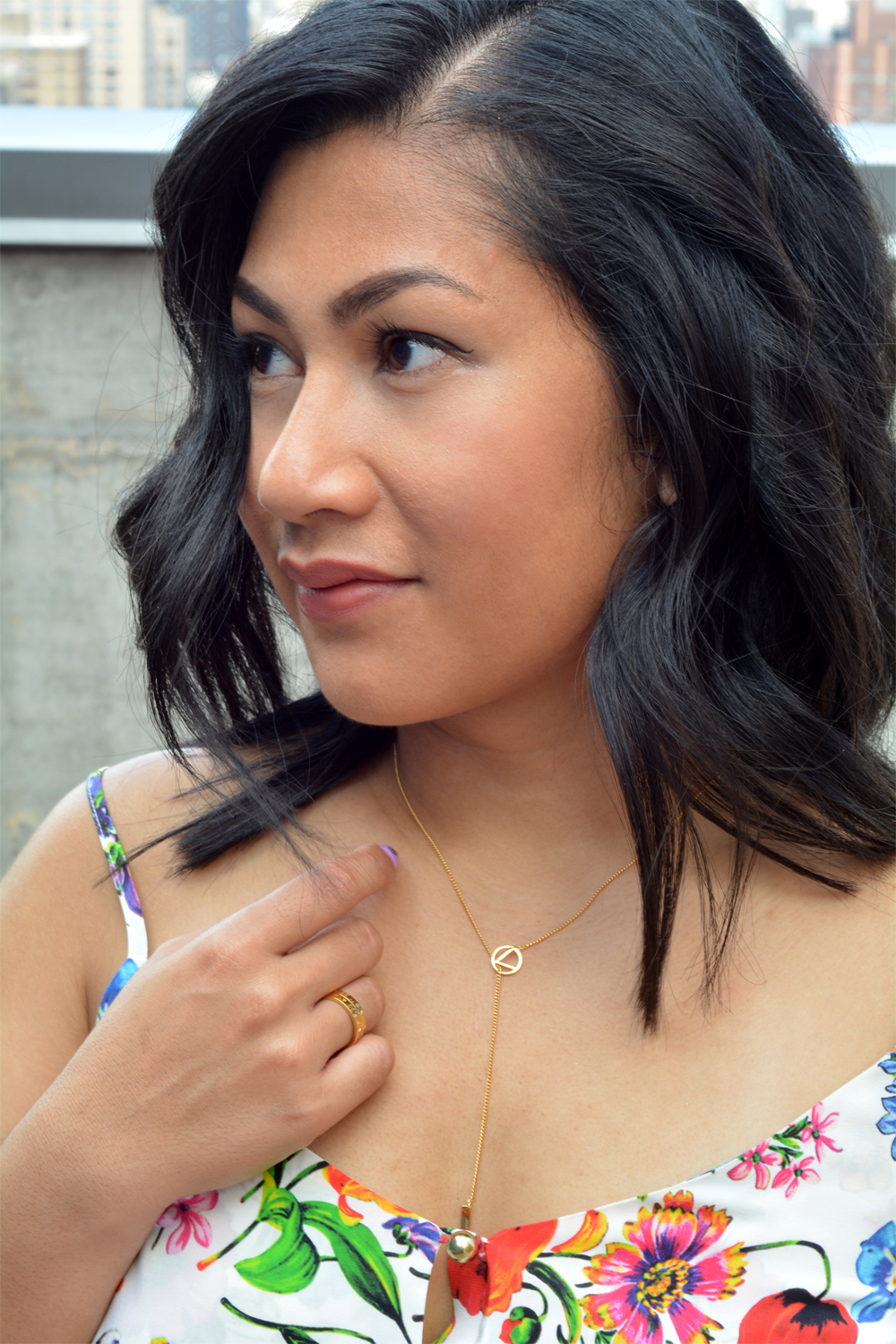 Liberti Love Lariat Necklace and Coordinate Ring