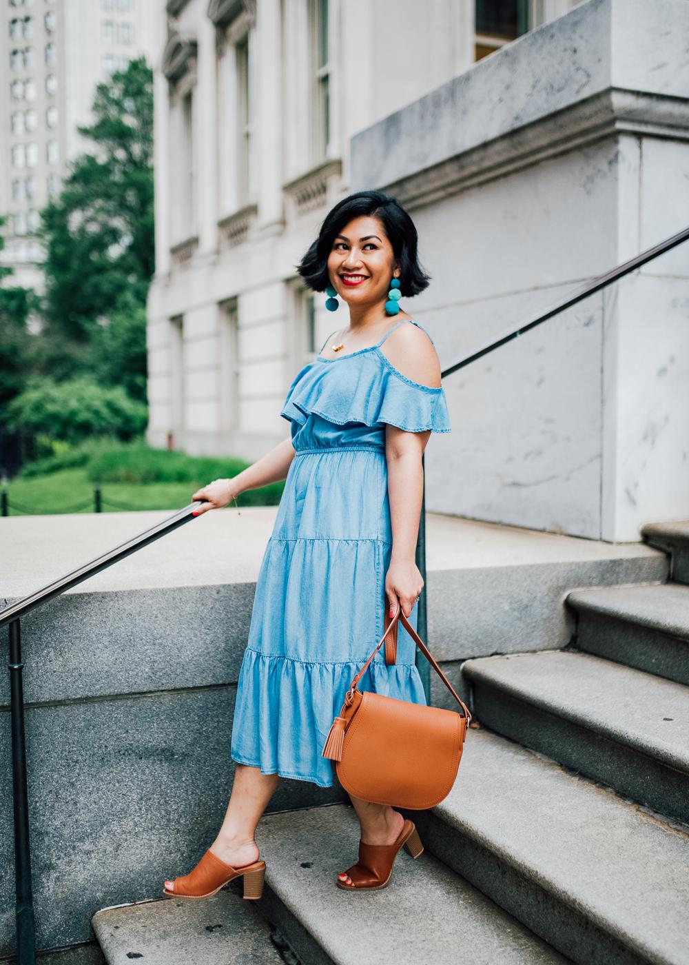 Old Navy Ruffle-Trim Tencel® Dress