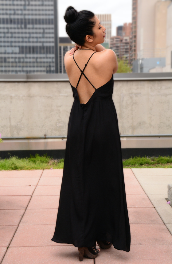 Mono B. Black Cutout Dress