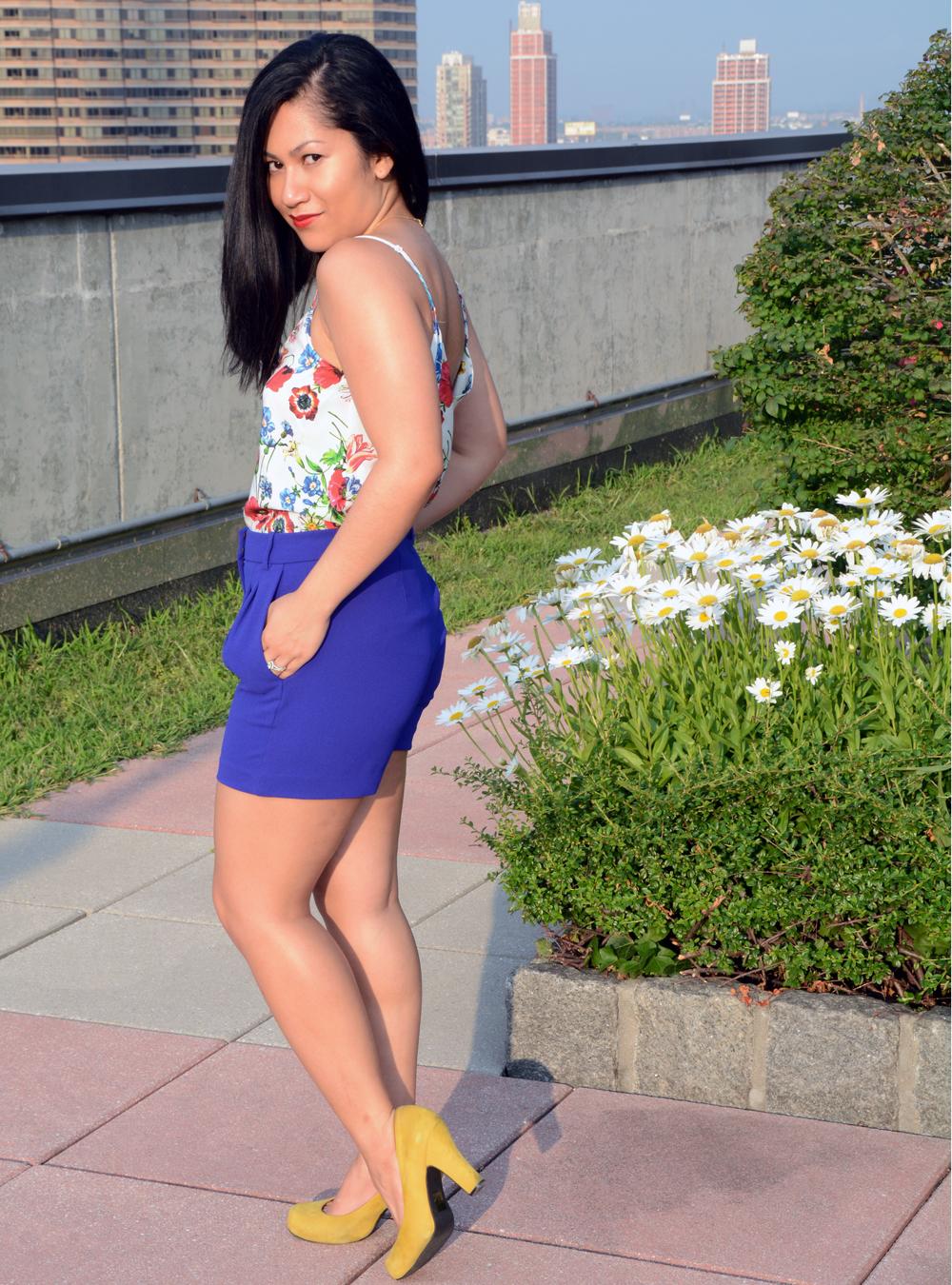 Yumi Kim Lena Tank & J.Crew Pleated Crepe Shorts