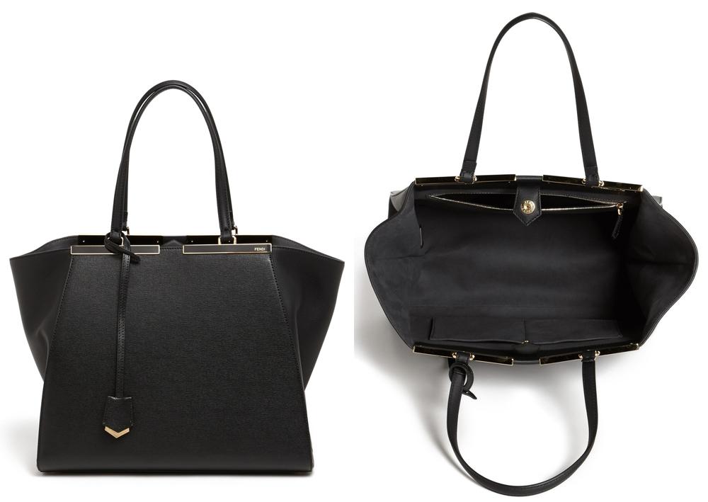Fendi 3Jours Leather Shopper