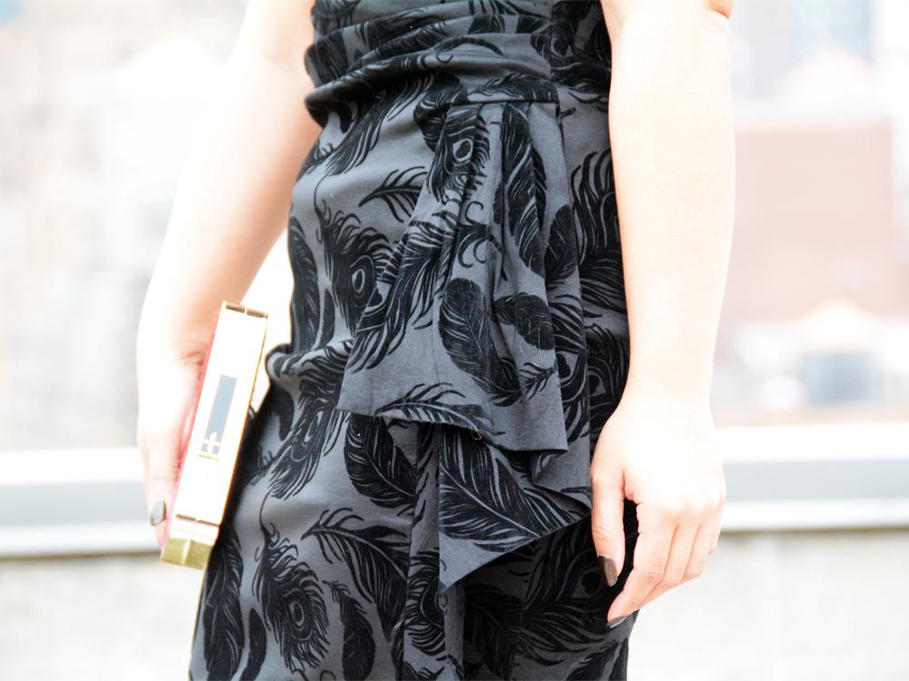 Voodoo Vixen Amanda Pencil Ruffle Dress
