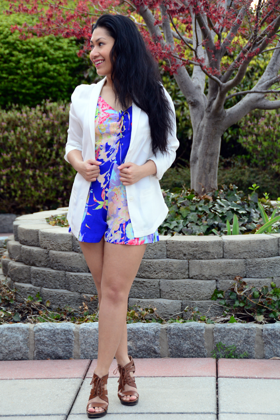 Yumi Kim Romper and H&M Jacket