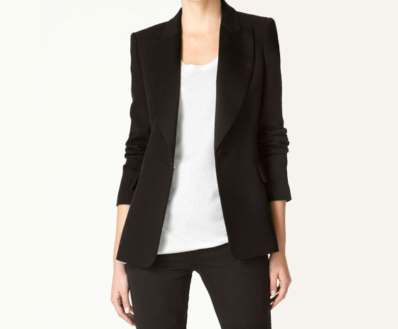 Blazer with Wide Lapels