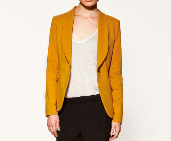 Wing-Collared Blazer