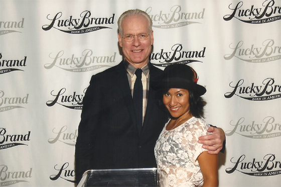 Gita and Tim Gunn